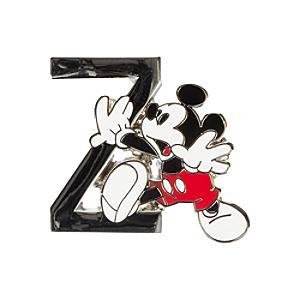 Disneyland Paris Pin's lettre''Z''Mickey Mouse