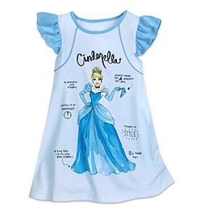 Cinderella Nightdress For Kids -  4 Years - Cinderella Gifts
