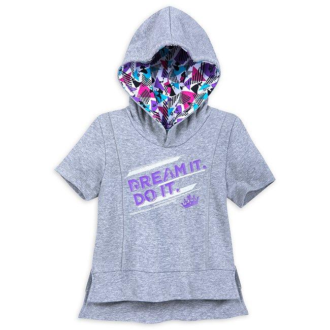 Sweatshirt à capuche Disney Princesses gris pour enfants, collection OurUniverse