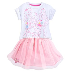 Disney Princess Top and Skirt Set For Kids -  9-10 Years - Disney Gifts