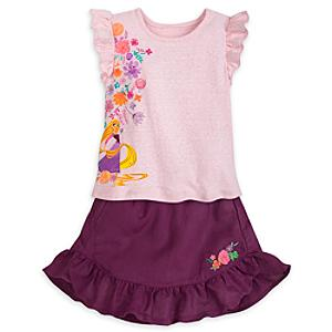 Tangled Top and Skirt Set For Kids -  9-10 Years - Skirt Gifts