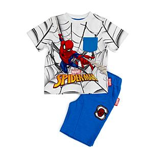 Spider-Man Top and Shorts Set For Kids -  7-8 Years - Spiderman Gifts