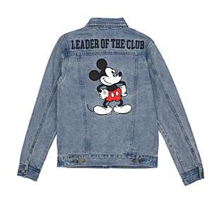 Disney Store Mickey Mouse Denim Jacket For Adults
