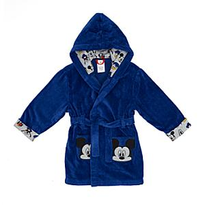 Mickey Mouse Hooded Dressing Gown For Kids -  5-6 Years - Dressing Gown Gifts