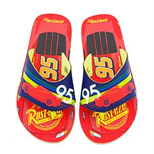 Disney Pixar Cars Flip Flops For Kids -  Kids Shoe Size 12 - Disney Cars Gifts