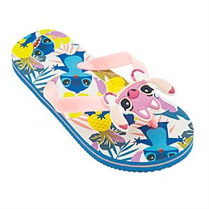 Stitch and Angel Flip Flops For Kids -  Kids Shoe Size 12 - Angel Gifts