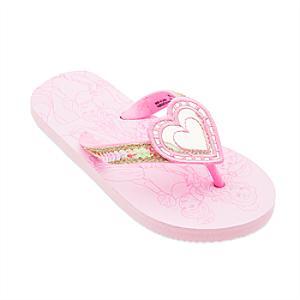 Disney Princess Flip Flops For Kids -  Kids Shoe Size 12 - Disney Gifts