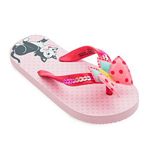 Minnie Mouse Flip Flops For Kids -  Kids Shoe Size 12 - Disney Store Gifts