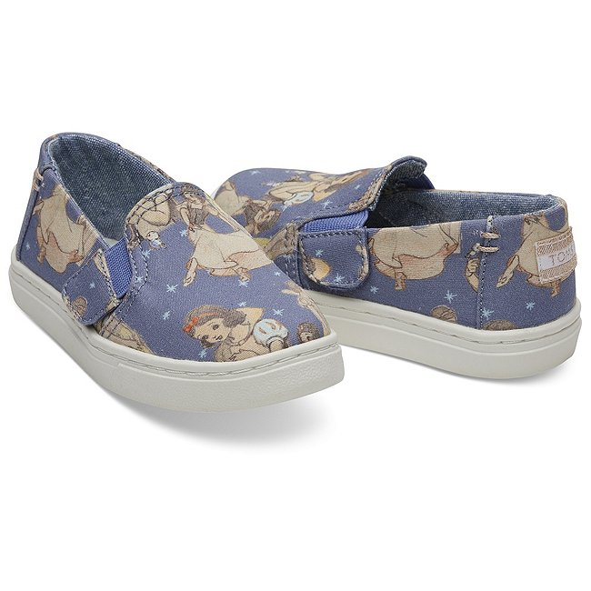 TOMS Chaussures Slip-On Tiny Luca pour enfant, Blanche Neige