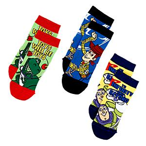 Toy Story Socks For Kids, 3 Pairs -  Kids Shoe Size 4-7 - Toy Story Gifts
