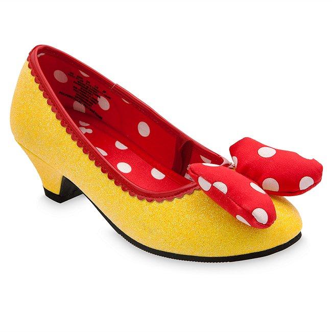 Chaussures de déguisement jaunes pour enfants Minnie Mouse Disney Store