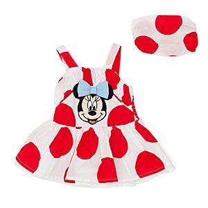 Ensemble robe, culotte et bandeau Minnie Mouse pour bébé