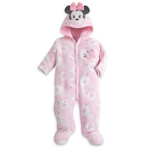 Minnie Mouse Fleece Baby Romper -  Newborn - Newborn Baby Gifts