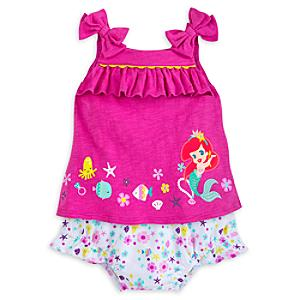 The Little Mermaid Baby Top and Bloomers Set -  3-6 Months - Little Mermaid Gifts