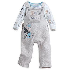 Mickey Mouse Baby Dungaree and Body Suit Set -  Newborn - Newborn Baby Gifts