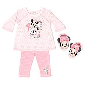 Minnie Mouse Baby Pyjama and Slipper Set -  Newborn - Newborn Baby Gifts