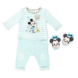 Mickey Mouse Baby Pyjama and Slipper Set -  Newborn - Newborn Baby Gifts