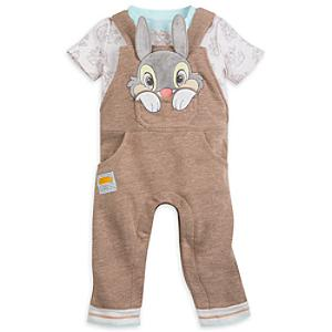 Thumper Baby Dungaree and Body Suit Set -  Newborn - Newborn Baby Gifts