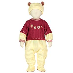 Winnie the Pooh Baby Body Suit and Hat Set -  18-24 Months - Winnie The Pooh Gifts