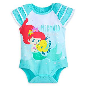The Little Mermaid Baby Body Suit -  9-12 Months - Little Mermaid Gifts