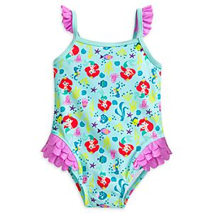 The Little Mermaid Baby Swimsuit -  3-6 Months - Little Mermaid Gifts