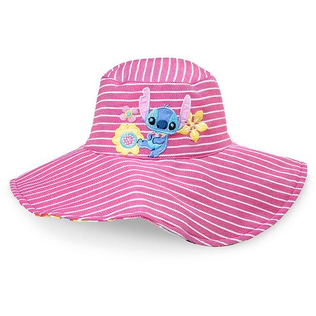 Chapeau de plage réversible Stitch pour bébé