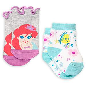 The Little Mermaid Baby Socks, 2 Pairs -  6-12 Months - Little Mermaid Gifts