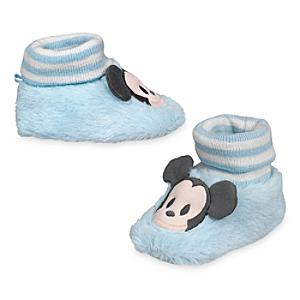 Mickey Mouse Baby Slippers -  0-6 Months - Slippers Gifts