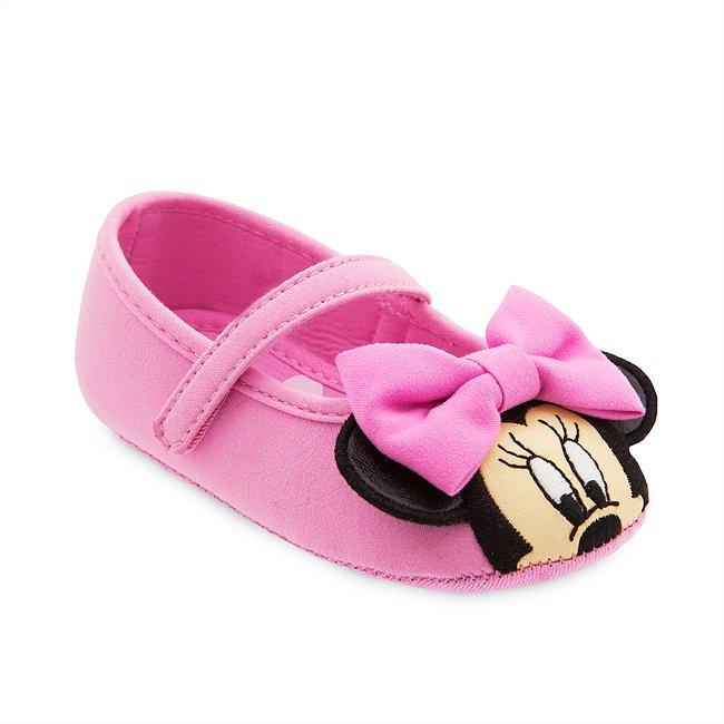 Chaussures Minnie Mouse rose pour bébé, Disney Store