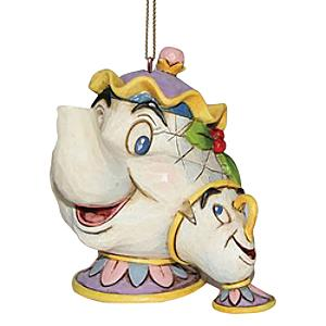 Disney Traditions Mrs Potts and Chip Hanging Ornament