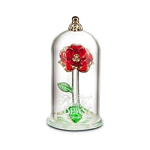 Arribas Glass Collection, Beauty and the Beast Glass Dome Ornament - Ornament Gifts
