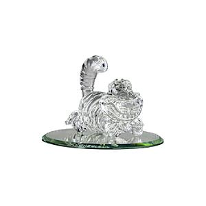 Cheshire Cat Glass Mirrored Figurine, Arribas Glass Collection