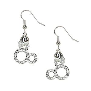 Mickey Mouse Glove Icon Earrings, Arribas Jewelled Collection