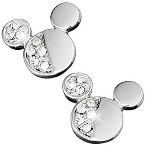 Mickey Mouse Half Crystal Icon Earrings, Arribas Jewelled Collection - Mothers Day Gifts