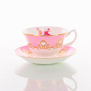 English Ladies Co. Bone China Aurora Tea Cup and Saucer - China Gifts