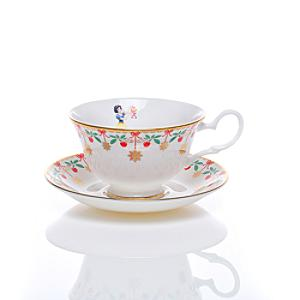 English Ladies Co. Bone China Snow White Tea Cup and Saucer - China Gifts