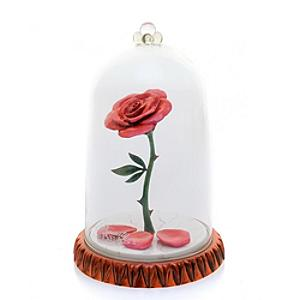 English Ladies Co. Bone China Enchanted Rose Dome Figure, Beauty And The Beast - China Gifts