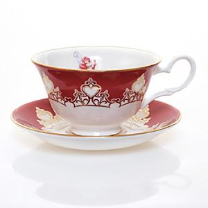 English Ladies Co. Bone China Ariel Teacup and Saucer - China Gifts