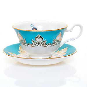 English Ladies Co. Bone China Princess Jasmine Teacup and Saucer - Aladdin Gifts