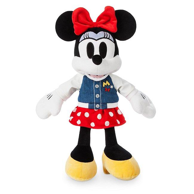 Petite peluche Minnie Mouse en blouson universitaire Disney Store