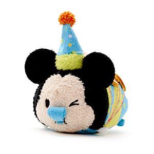 Mickey Mouse Birthday Tsum Tsum Mini Soft Toy - Tsum Tsum Gifts