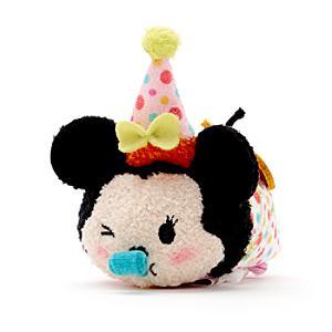 Minnie Mouse Birthday Tsum Tsum Mini Soft Toy - Tsum Tsum Gifts