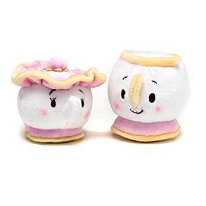 Chip and Mrs Potts Mini Ufufy Soft Toy Set - Soft Toy Gifts