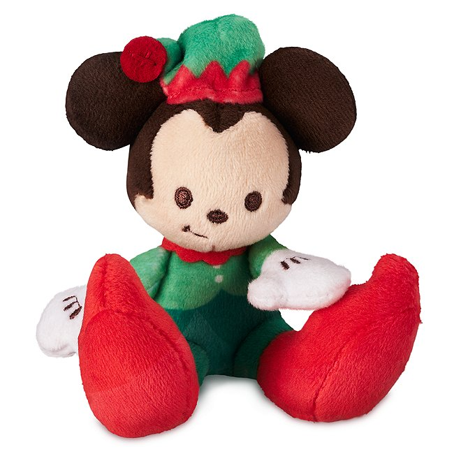 Disney Store peluche miniature festive mickey mouse, tiny big feet