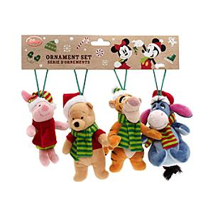 Winnie The Pooh And Friends Soft Toy Decorations, Set of 4 - Soft Toy Gifts