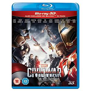 Captain America: Civil War 3D Blu-ray - Marvel Gifts