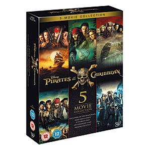 Pirates of the Caribbean 1-5 DVD Boxset - Dvd Gifts