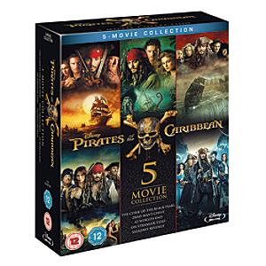 Pirates of the Caribbean 1-5 Blu-ray Boxset - Pirates Gifts