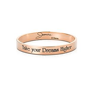 Couture Kingdom Rose Gold-Plated Bangle, Princess Jasmine - Princess Jasmine Gifts