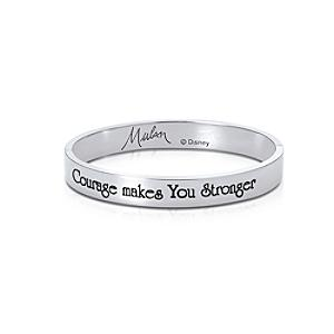Couture Kingdom White Gold-Plated Bangle, Disney Mulan